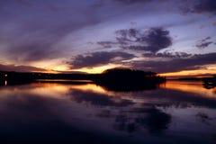 Vecchio tramonto del hickory Fotografie Stock Libere da Diritti