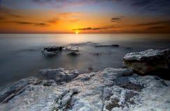 Vecchio tramonto di Hunstanton Immagine Stock