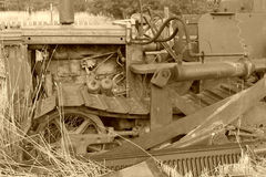 Vecchio trattore Immagini Stock Libere da Diritti