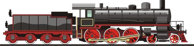 Vecchio treno illustrazione di stock
