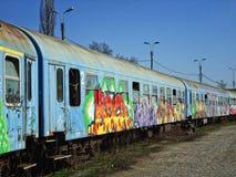 Vecchio treno Fotografie Stock