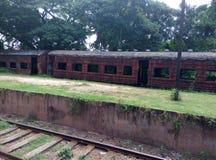 Vecchio, treno abbandonato fotografia stock