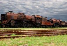 Vecchio treno arrugginito Immagini Stock Libere da Diritti