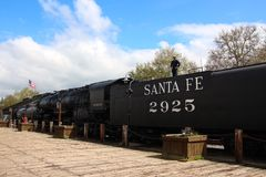 Vecchio treno California U.S.A. di Sacramento della città Fotografia Stock Libera da Diritti