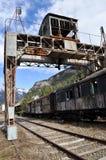 Vecchio treno a Canfranc Immagini Stock Libere da Diritti