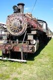 Vecchio treno del motore a vapore Fotografie Stock Libere da Diritti