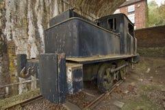 Vecchio treno del pesce palla Fotografia Stock