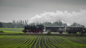 Vecchio treno del vapore archivi video