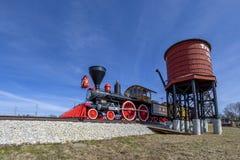 Vecchio treno della locomotiva di vapore Fotografia Stock Libera da Diritti