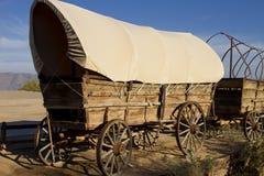 Vecchio treno di vagone coperto ad ovest Fotografia Stock