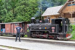 Vecchio treno di Viseu de Sus fotografia stock libera da diritti