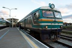 Vecchio treno diesel Fotografia Stock Libera da Diritti