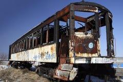 Vecchio treno guasto Immagini Stock