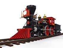 Vecchio treno locomotivo Fotografie Stock