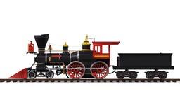 Vecchio treno locomotivo Immagine Stock Libera da Diritti