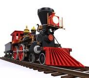 Vecchio treno locomotivo Immagini Stock