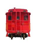 Vecchio treno rosso Immagini Stock