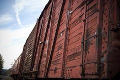 Vecchio treno rosso Immagine Stock