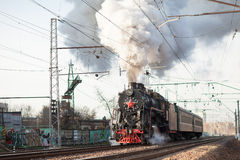 Vecchio treno russo Fotografia Stock Libera da Diritti