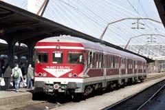 Vecchio treno suburbano Immagini Stock Libere da Diritti
