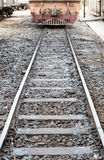 Vecchio treno sulla ferrovia Immagine Stock Libera da Diritti