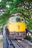Vecchio treno tailandese Fotografia Stock
