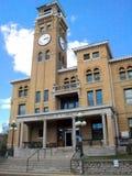 Vecchio tribunale della torre di orologio fotografia stock
