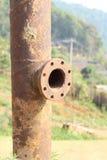 Vecchio tubo arrugginito Fotografia Stock