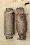 Vecchio tubo di scarico Immagini Stock