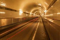 Vecchio tunnel di Elba a Amburgo, Germania Fotografie Stock
