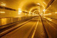 Vecchio tunnel di Elba a Amburgo, Germania Fotografia Stock Libera da Diritti