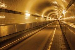 Vecchio tunnel di Elba a Amburgo, Germania Fotografia Stock