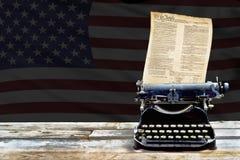 Vecchio Typewritter antico Fotografia Stock Libera da Diritti