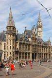 Vecchio ufficio postale Korenmarkt gand belgium fotografia stock libera da diritti