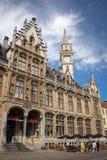 Vecchio ufficio postale Korenmarkt gand belgium fotografie stock