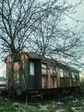 Vecchio vagone del treno Fotografia Stock