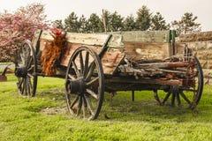 Vecchio vagone dell'azienda agricola Immagine Stock