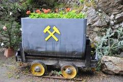 Vecchio vagone di estrazione mineraria Fotografia Stock Libera da Diritti