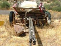 Vecchio vagone di legno con le ruote di gomma Immagine Stock Libera da Diritti