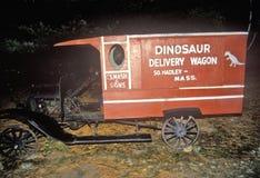 Vecchio vagone, Nash Dino Land, Hadley del sud, Massachusetts Fotografia Stock Libera da Diritti