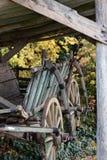 Vecchio vagone trainato da cavalli rustico Immagine Stock Libera da Diritti