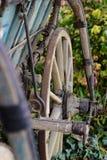 Vecchio vagone trainato da cavalli rustico - dettaglio Fotografia Stock Libera da Diritti