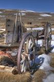 Vecchio vagone in un campo Immagini Stock Libere da Diritti