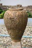 Vecchio vaso della fontana Fotografie Stock
