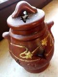 Vecchio vaso di Brown Fotografie Stock