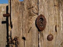 Vecchio vecchia serratura Fotografia Stock Libera da Diritti