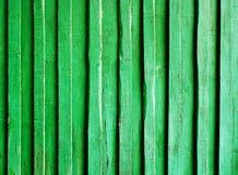 Vecchio verticale di legno verde del fondo Fotografia Stock Libera da Diritti