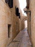 Vecchio vicolo della città di Gerusalemme - dell'Israele Fotografia Stock Libera da Diritti