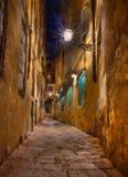 Vecchio vicolo a Firenze Fotografia Stock