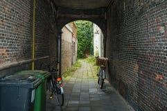 Vecchio vicolo olandese Fotografia Stock